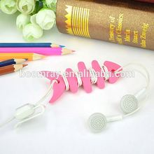 Phone Accessories 1 dollar fish bone plastic earphone cable strain relief clamp