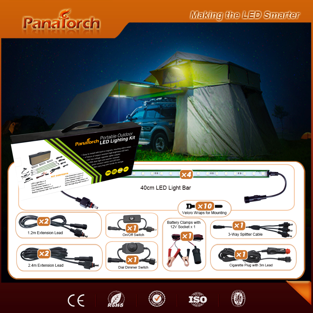Leisure Outdoor Travel -20 to 40 Degree LED Camping Light C5521E Carry Bag Package