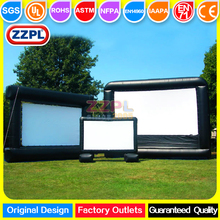 ZZPL Customized inflatable TV screen for home use Commercial rental inflatable display screen for sale Inflatable screen