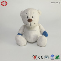 Big belly soft stuffed plush white teddy bear cute sitting animal toy