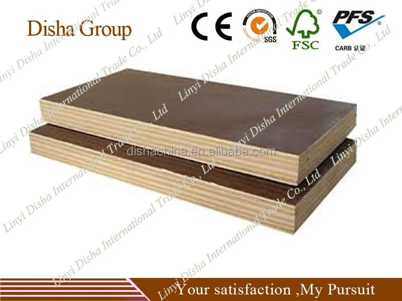China Poplar core 12mm film faced plywood 4'x8' two times hot pressed