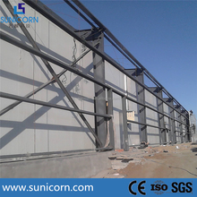 PU sandwich panel steel structure prefabricated for insulation panel cold room