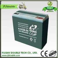 hot sales lead acid electric vehicle(e bike) 12v 20ah deep cycle electric bike battery