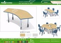 Kaiqi KQ60207A school furniture Combinable student table in arc different colors available