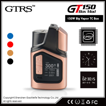 hot selling ecig vape battery products GTRS e-cigarette 150w tc vapor mods gt150