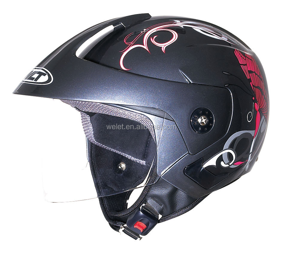 open face helmet with chin strap made in China
