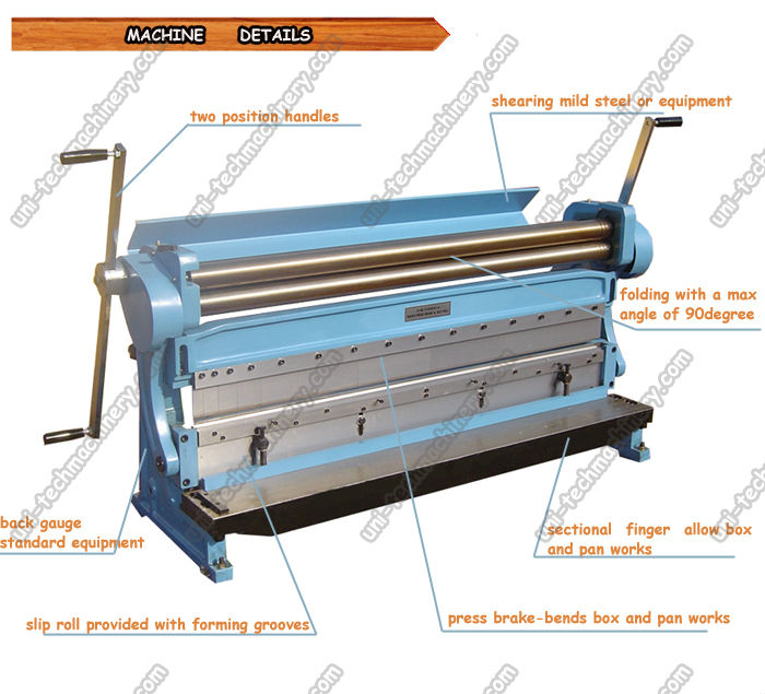 3 in one sheet metal machine