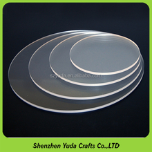 Custom Finished Plastic Cutting Discs Plexiglass Acrylic Round Circle Clear Disc
