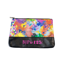 Colorful PU Painting Cosmetics Makeup Bags Beauty Case for Toiletries