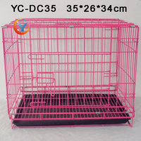 Factory supplier pet cage dog cage kennel folded dog cage for sale cheap