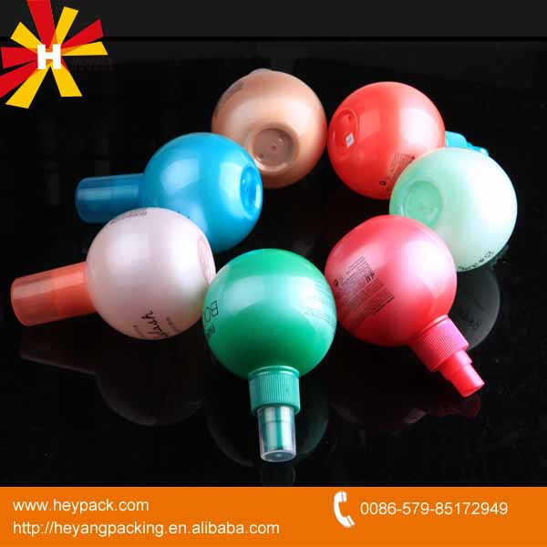 Beautiful colorful spherical plastic bottle