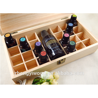 High quality decoration customized style grids wooden essential oil storage rack box