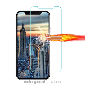 New model for iPhone X/10 2.5 D Transparent Tempered Glass Screen Protector, Anti-Scratch Tempered Glass for iPhone