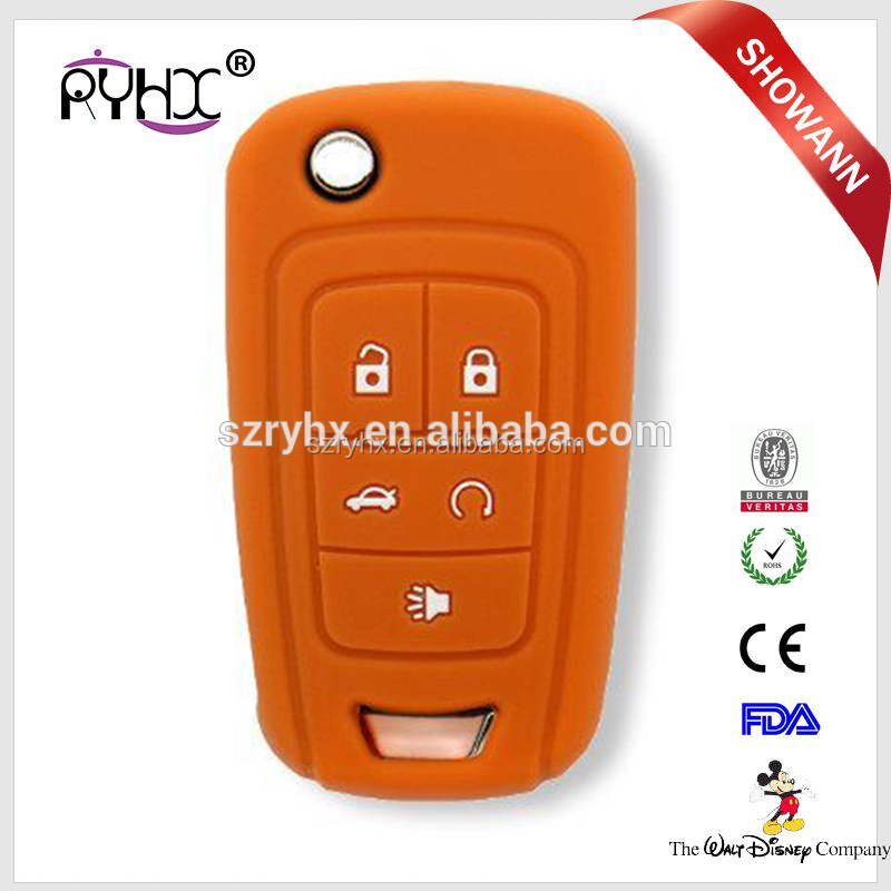 Hot-sale products car remote key cover smart remote key silicon cover for Chevrolet with auto 5 buttons