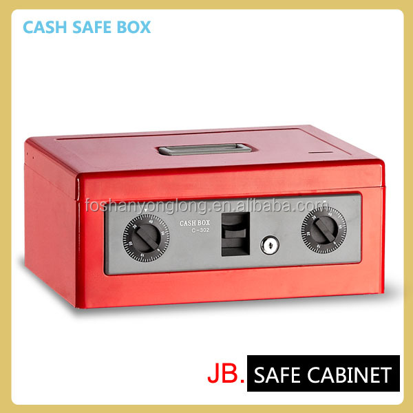 [JB] Coin safe Metal Cash Box with Lock and Key cash money box cash safety