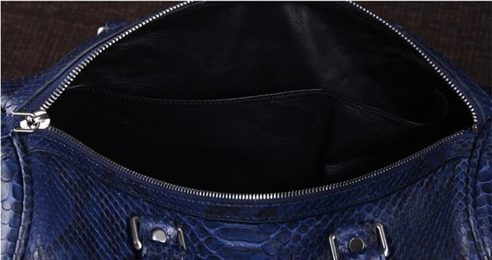 OEM Men's High End Real Python Snakeskin Leather Travel Duffle Bag for Clothes Storage_11