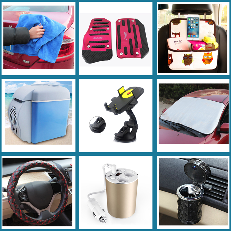 Hot sale japanese car accessories with car clean tools and ashtray in large stock