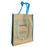 Promotional Custom Foldable Shopping PP Recyclable Non Woven Bag