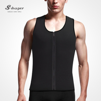 S-SHAPER Wholesale Ultra Sweat Sport Zipper Body Men Corset