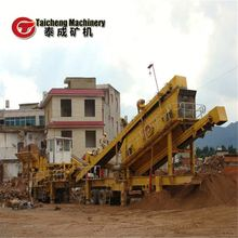 Wide application range pentagon basalt mobile crusher equipment with high technology