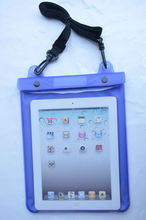 Purple TPU Dry Vacation Waterproof Bag For iPad Air 3 With 2CM Lanyard