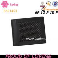 Durable gentleman carbon fiber wallet