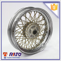 Good performance 13 inch motorcycle chrome spoke wheel