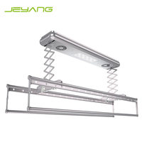 Electric cloth hanger automatic lifting clothes drying rack with remote control