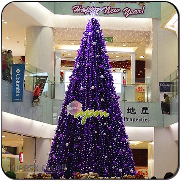 Custom made Large outdoor LED PVC fluorescent christmas tree