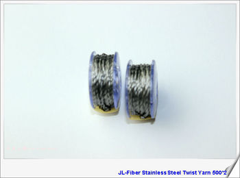 Pure stainless steel conductive twist yarn 500*2