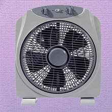 12 inch portable oscillating box fan with 5 blades