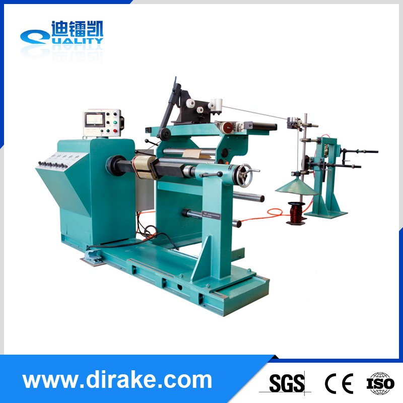 oil distribution transformer high voltage coil winding machine