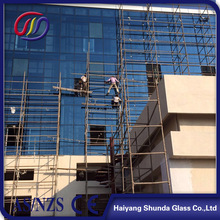 Beijing Haiyangshunda 8mm Tempered/Toughened Laminated Glass for Curtain Wall with Ceramic Fritted