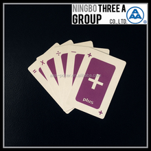 game card for kids with custom logo on cards and box