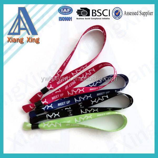 2015 gold supplier 100% quality control fashional polyester string bracelet 2016 promotional gift items