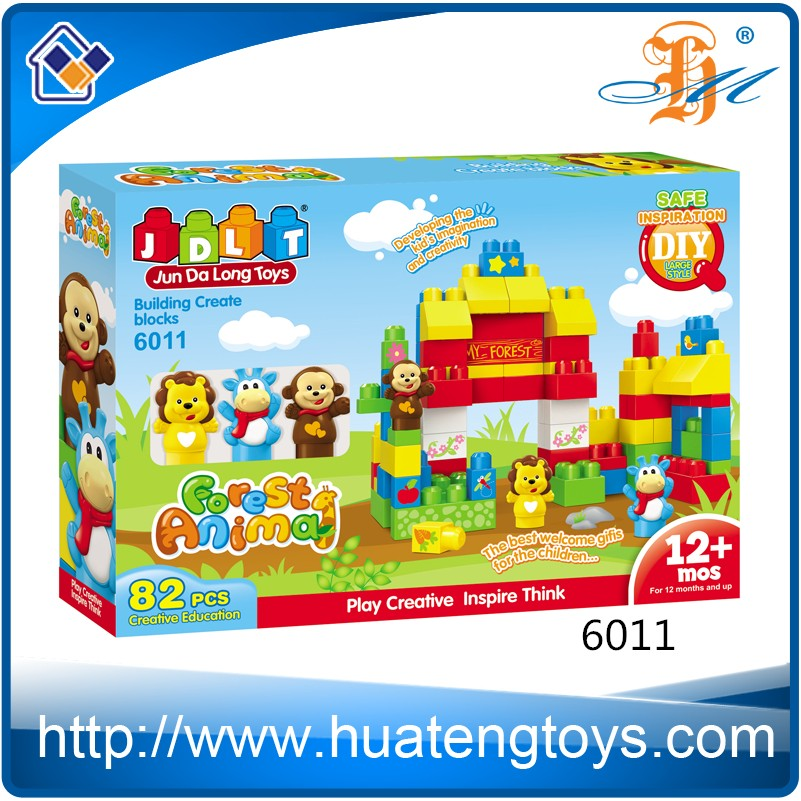 Hot Educational Game Construct Animal Building Block Set Brick Toy