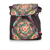New fashion bags for teens woman genuine leather embroidery backpack for wholesale