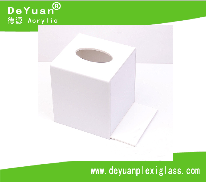 Square Acrylic Tissue Box / Plastic Paper Box