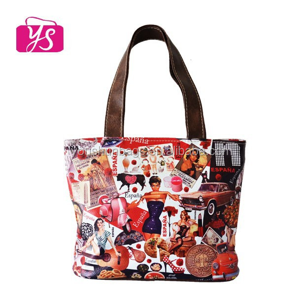 printed tote shopping bag