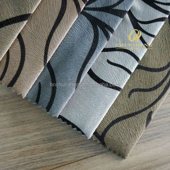 Printing Burnout Velboa sofa fabric with TC 6