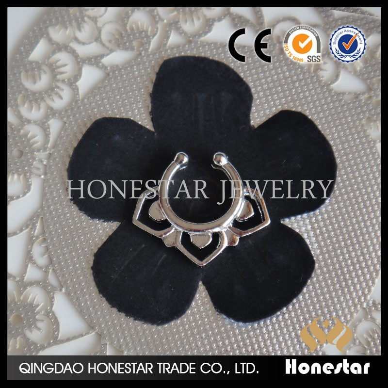 Honestar indian nose rings fancy nose ring jewelry