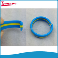New technology hot sales custom two colors silicone men's wedding rings
