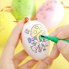 2018 Easter Decorations Diy Painted Plastic Hand Painted Crafts Easter Egg For Sale