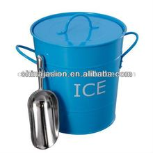 BAR AND PARTY METAL ICE BUCKET WITH LID AND METAL SCOOP