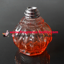 Orange Traditional Perfume Lamp with crimped Wick Holder