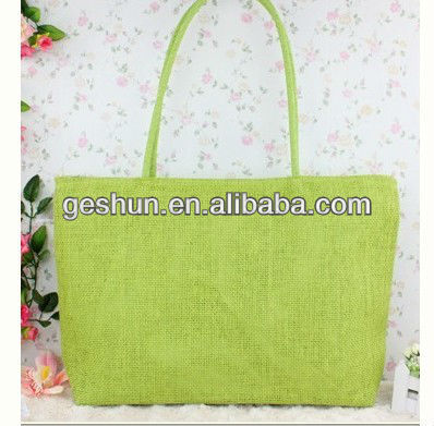 2015 promotional Ladies recycled philippine tote paper straw bag