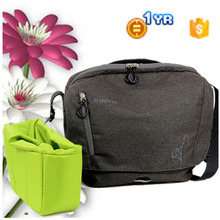 2014 new design leather canvas dslr shoulder camera bag designer fashion digital camera bag