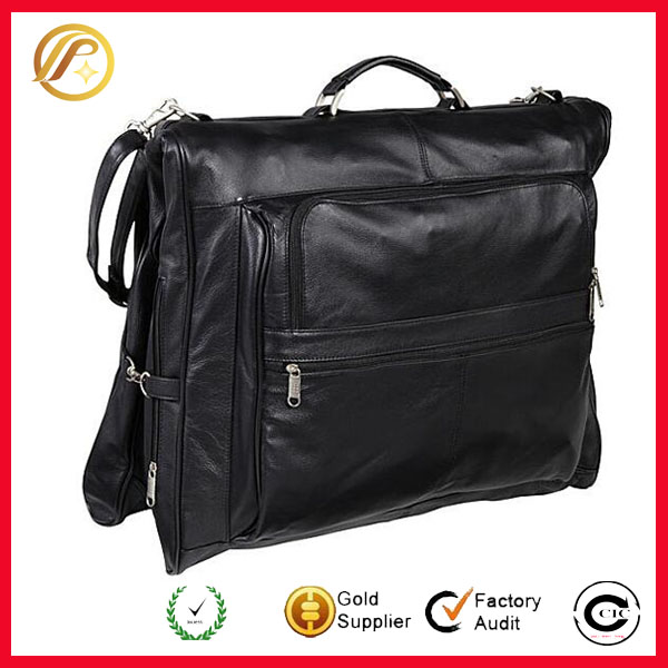 Top Quality Leather Three-suit Garment Bag Heavy-duty Dust Prevention Bag Best For Travelling