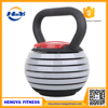 Durable Gym Equipment Plastic Adjustable Kettlebell