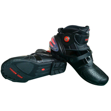USED MOTORCYCLE RACING SHORT BOOTS WITH GOOD QUALITY